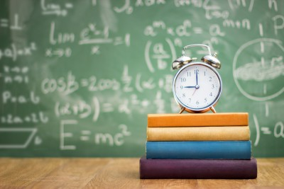 Back to school, books and an alarm clock